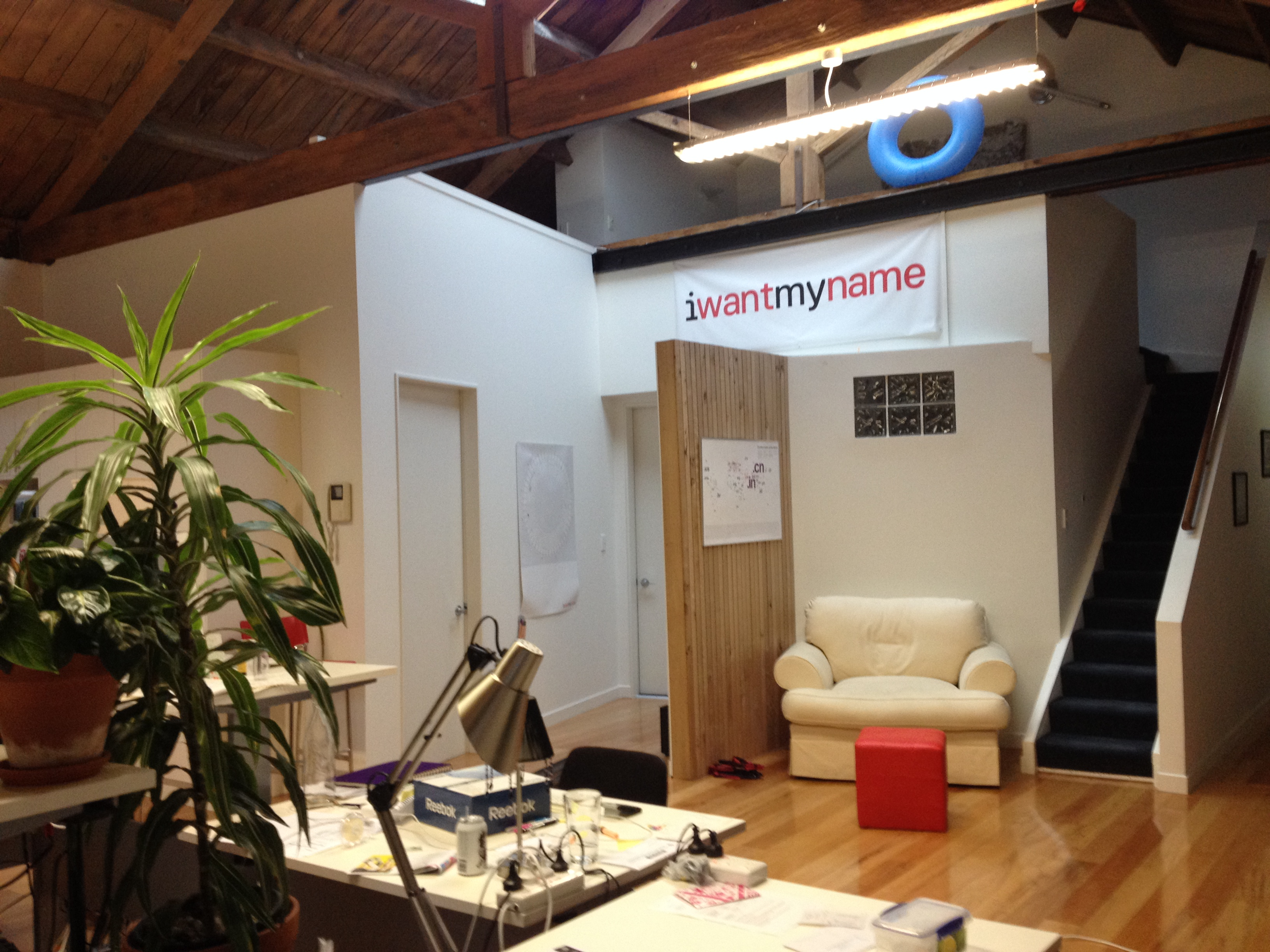 photo inside the former iwantmyname headquarters in Wellington, NZ