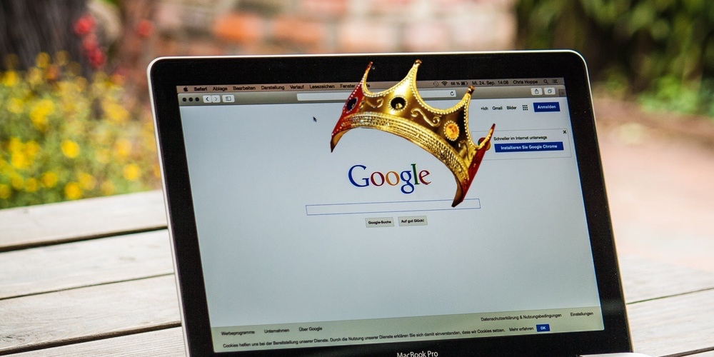 google with a crown